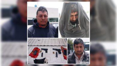 Palmar de Bravo, Jesús Nazareno, Policía Estatal, persecución, detenidos, arma de fuego, robo de vehículo