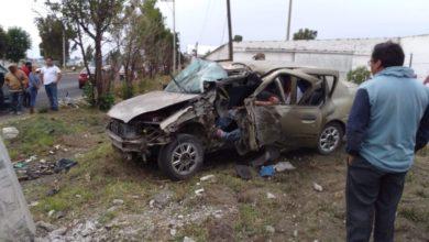 volcadura, accidente, México-Puebla, Huejotzingo, muerto