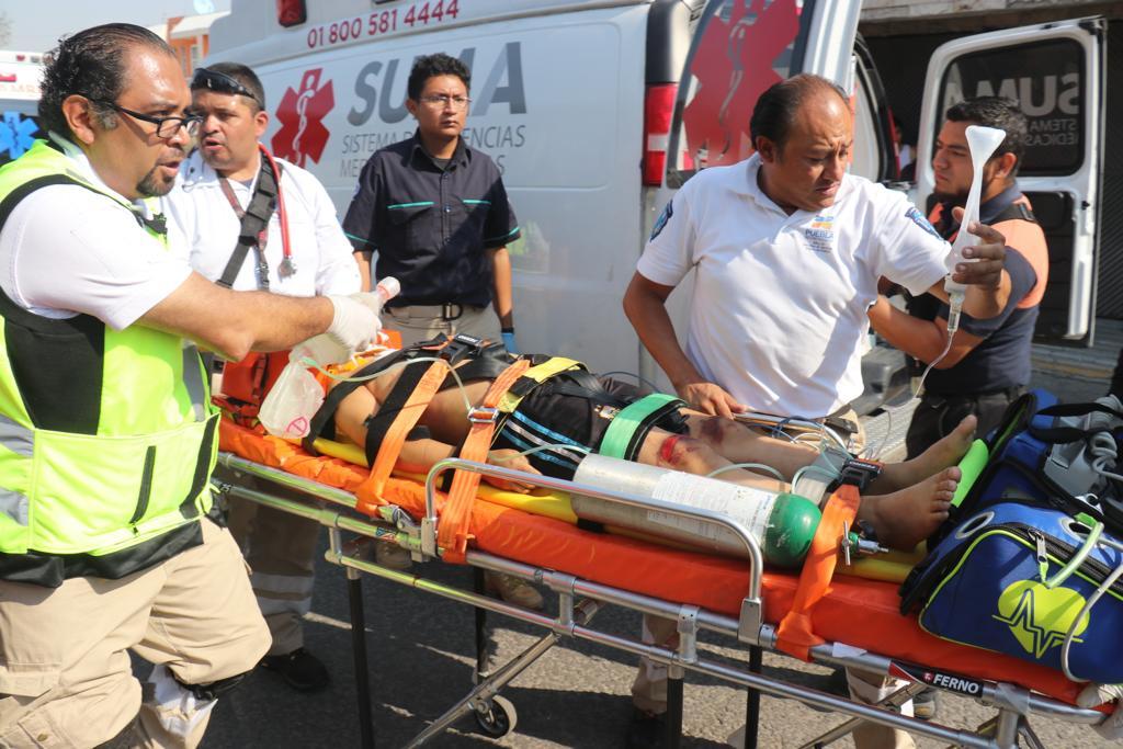 Explosión, Tanque de gas, San Felipe Hueyotlipan, Lesionados, SUMA, 911, Bomberos, Atención de eventos masivos, Protección Civil, Hospital General del Norte, Hospital de Traumatología y Ortopedia, menores, adultos