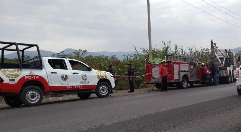 Volcadura, Tehuacán, dren, lesionados, Protección Civil Municipal, Valsequillo, Cruz Roja, Fiscalía General, Hospital
