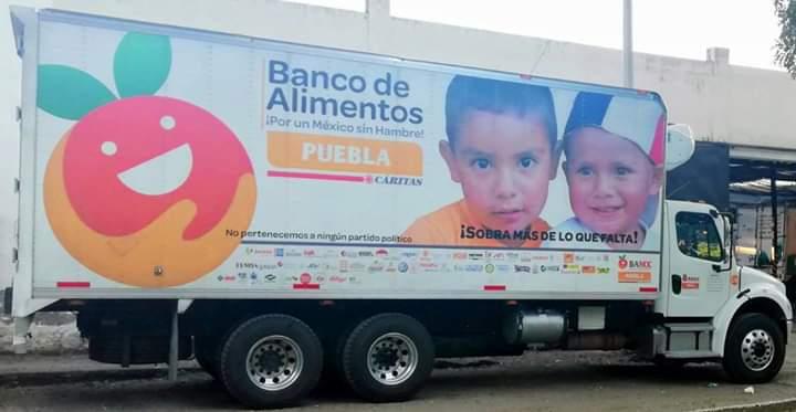 Robo, camión, Fundación, Banco de Alimentos Cáritas, Puebla, verduras, familias, pobreza, carga, trabajo, torton, Ministerio Público, Redes sociales, denuncia
