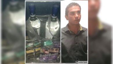 Policía Estatal, hombre, robo, tiendas de conveniencia, Romero Vargas, Oxxo, cigarros, licor, productos robados, Ministerio Público, hechos delictivos