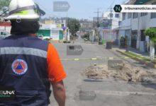 Fuga de gas, fraccionamiento, evacuación, familias, accidente, Maxi Gas, tubería, 911, olor, Protección civil, Bomberos, trabajadores, empresa