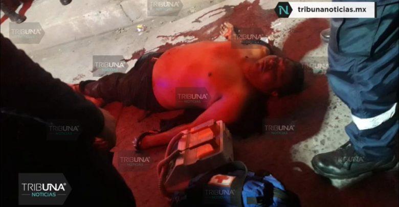 Balacera, San Martín Texmelucan, Calle 5 de Mayo, Calle Mártires del 28 de Noviembre, Policía Municipal, paramédicos, Cruz Roja, Muerto, Móvil del crimen