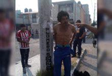 Ladrón, golpes, poste, vecinos, Rincón de San Aparicio, bicicleta, robo, lazos, Policía Municipal, Ministerio Público, denuncia