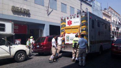 Olor, amoniaco, evacuación, Sears, Centro Histórico, Puebla, Protección Civil Municipal, 911, sustancia química, empleados, vías respiratorias, personal médico, Sistema de Urgencias Avanzadas,