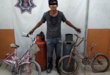 Joven, ladrón, golpiza, vecinos, Tepeaca, tanque de gas, bicicleta, robo, Policía Municipal, escarmiento, fuga, Ministerio Público, denuncia