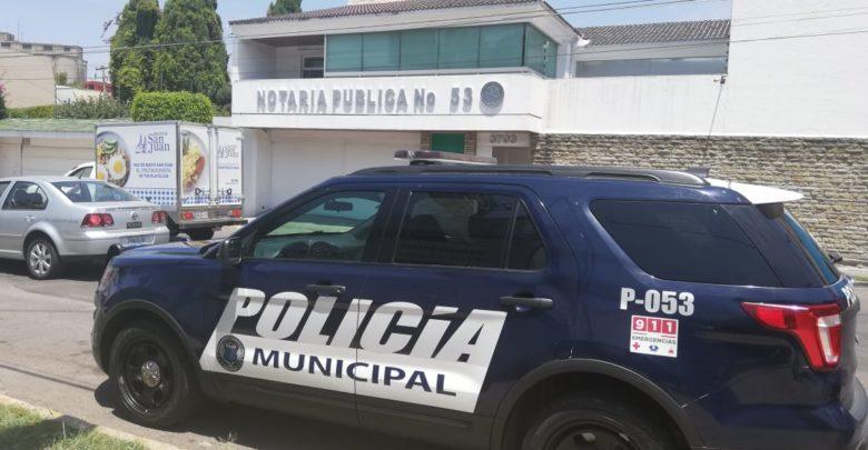 Dinero en efectivo, una chequera, computadoras, Huexotitla, Notaría Pública número 53, Policía Municipal, madrugada, delincuentes, Libro de registros, cámaras de seguridad