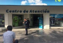 Asalto frustrado, alarmas, Centro de atención a clientes, Movistar, Avenida Juárez, Colonia La Paz, inmueble, teléfono celular, Policía Municipal, Policía Estatal, delincuentes, empleados, clientes