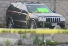 cadáver, hombre, muerto, camioneta, Jeep, placas de Puebla, ajuste de cuentas, bandas delictivas, Parque Industrial de Chachapa, Amozoc, Fiscalía General del Estado, Policía Estatal, Policía Municipal