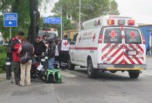 Ambulancia, Cruz Roja, motociclista, Uber Eats, lesionado, hospital, conductor, semáforo, Tránsito Municipal, sirena, audífonos