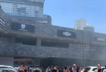 corto circuito, torre Natyvo, Lomas de Angelópolis, Bomberos, Protección Civil, columna de humo, medidores de luz, CFE, edificio, San Andrés Cholula,