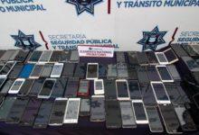 Celulares, decomisados, operativo, Grucopa, patrullas, Ejército Mexicano, tabletas electrónicas, videojuegos portátiles, Policía Municipal, locatarios, asaltos, Centro Histórico, Puebla