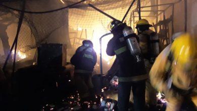 Incendio, autopartes, local, Cleotilde Torres, Protección Civil Municipal, Bomberos, llamas, cortinas, agua a presión, reignición, conferencia, cuotas, extorsión