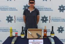 robo a negocio, detenido, El Franelas, SSPTM, Policía Municipal, Policía Estatal, Bulevar Xonaca, Barrio del Alto, Oxxo