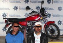 Centro Histórico, detenidos, Policía Municipal, robo de vehículo, motocicleta