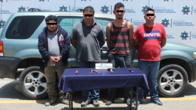 robo, transporte de carga, banda, detenidos, SSPTM, Policía Municipal, Santa María La Rivera