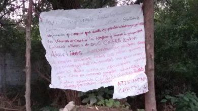 Atlixco, narcomanta, colonia Santa Lucía, Policía Municipal, Guardia Nacional, narcomenudeo