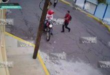 sujetos, asalto, golpes, repartidor, motocicleta, colonia Maestro Federal, cámaras de videovigilancia, Plaza San Pedro