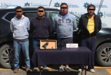 detención, banda, robo a transporte de carga, autopista México-Puebla, camioneta, Policía Municipal, arma de fuego, cartuchos útiles, antecedentes penales, robo a transeúnte, delitos contra la salud, Ministerio Público