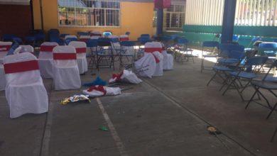 ceremonia de graduación, grupos armados, escuela primaria Miguel Hidalgo, Policía Municipal, armados, enfrentamiento, Los Rojos, banda criminal, patrullas, Fiscalía General