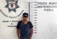 vehículo, reporte de robo, detentación de vehículo robado, Policía Municipal, San Pedro Cholula, Adolfo Ángel