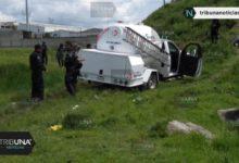 Pipa de gas, robo, persecución, San Lorenzo Almecatla, Policía Municipal, Cuautlancingo, banda, robo de hidrocarburo