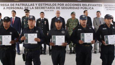 gobernador interino, Policía Estatal, Manuel Alonso García, patrullas , estímulos, medalla, Academia Estatal de las Fuerzas de Seguridad,