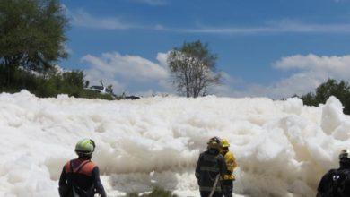 Protección Civil Municipal, Estatal, Bomberos, dren de Valsequillo, fotografía, espuma tóxica, accidente, contaminación, Tecamachalco
