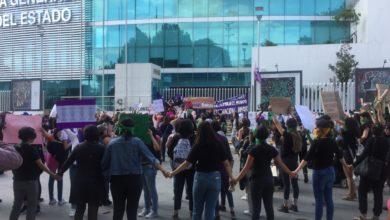 vandalizan, instalaciones, FGE, SSPTM, patrulla, grupos, feministas, feminicidios, violencia contra la mujer, Puebla, otras entidades, bulevar 5 de Mayo, edificio