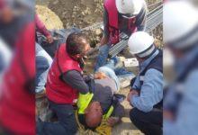 trabajador, construcción, herido, Angelópolis, tienda Sanborns, lesiones, hospital, fracturas de costillas, ambulancia