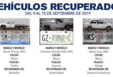 Lista, autos, reporte de robo, FGE, SSPTM, unidades, Septiembre