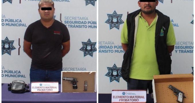 detención, portación ilegal de arma de fuego, San Pablo del Monte, colonia Seda Monsanto, Calzada Zaragoza, colonia Tepeyac, Policía Municipal, SSPTM