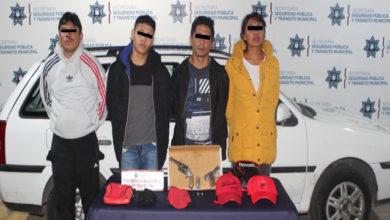 robo, casa habitación, detenidos, colonia San Pedro, arma de fuego, vehículo, reporte, SSPTM, Portación de arma de fuego, Ministerio Público