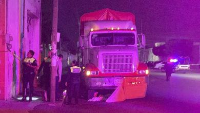 barrendero, servicio de limpia, atropellado, camión de carga, Huejotzingo, cruce de calle