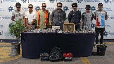 detenidos, Unidad Habitacional La Margarita, drogas, marihuana, heroína, baterías de carro, arma de fuego, medicamento controlado, estupefacientes, compra-venta, SSPTM, detención, antecedentes penales