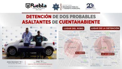 detención, asaltantes, robo a cuentahabiente, Colonia Anzures, antecedentes penales, Fuerzas Municipales, Juan, paramédicos, SUMA, SSPTM