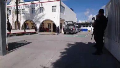 granada de fragmentación, Tochtepec, presidencia municipal, artefacto explosivo, Policía Estatal, Guardia Nacional, foco rojo