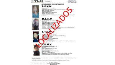 Localizados, familia, madre, hijos, menores de edad, Tlaxcala, OGJ, sin delito, problemas familiares, salida de casa