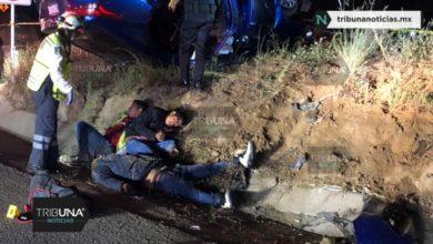 Delincuente, volcadura, Policía Federal, Santa Rita Tlahuapan, chofer, autopista México-Puebla, Paramédicos de Caminos y Puentes Federales, estroboscópicas, cadáver