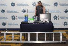 robo de equipo de cómputo, cámaras de vigilancia, FGE, SSPTM, institución educativa, intento de fuga, detenido