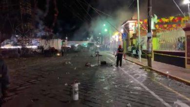 verbena, pirotecnia, accidente, lesionados, no hospitalización, Protección Civil Municipal, Policía Municipal, Huejotzingo, San Miguel Arcángel