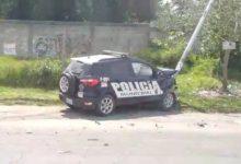 SSPTM, luminaria, Bosques de Manzanilla, conductor, patrulla, poste metálico, Peritos de Tránsito Municipal