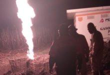 fuga de gas, toma clandestina, huachigaseros, Pemex, Policía Estatal, Guardia Nacional, Bomberos, combustible, Nota Roja, Código Rojo, Puebla