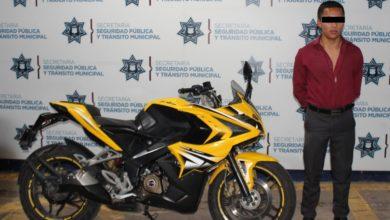 Policía Municipal, detenido, Orlando, robo, motocicleta, Buelvar Valsequillo, San Baltazar Campeche, Nota Roja, Código Rojo,