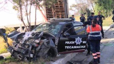 persecución policiaca, balacera, Tecamachalco, patrulla, tráiler, herido, nosocomio, paramédicos de SUMA,