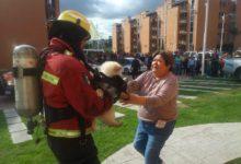Mujer, quemaduras, gas, LP, Misiones de San José, paramédicos Protección Civil Municipal, Bomberos, PERROS, RESCATE