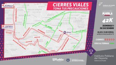 Maratón Internacional de Puebla 2019, dispositivos, seguridad, vial, Policía de Tránsito Municipal, DERI, vías alternas, 5 kilómetros, 10 kilómetros, 21 kilómetros, 42 kilómetros, maratonistas, 911, Código Rojo, Nota Roja, Puebla, Noticias