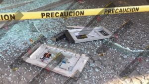 Colonia Volcanes, HSBC, vandalizados, robo, cajeros, herramienta, sujeto, policías municipales, Código Rojo, Nota Roja, Puebla, Noticias