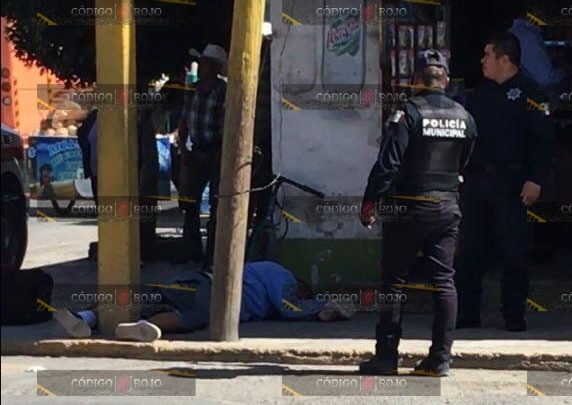 Policía Municipal de Tecamachalco, asesinado, disparos, armas de fuego, Autobuses Unidos, camioneta, Cruz Roja, Tepeaca, Comandante de turno, FGE, homicidio